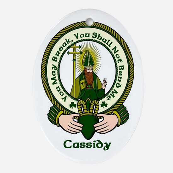 Cassidy Clan Motto Ornament (Oval)