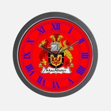 Clan MacAlister Wall Clock