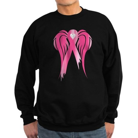 Breast Cancer Ribbon With Win Sweatshirt (dark)