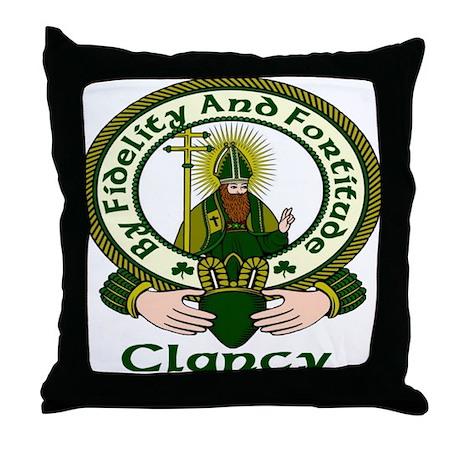 Clancy Clan Motto Throw Pillow