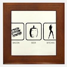 Bacon Beer Bitches Framed Tile