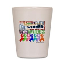 Ribbons For a Cause Shot Glass