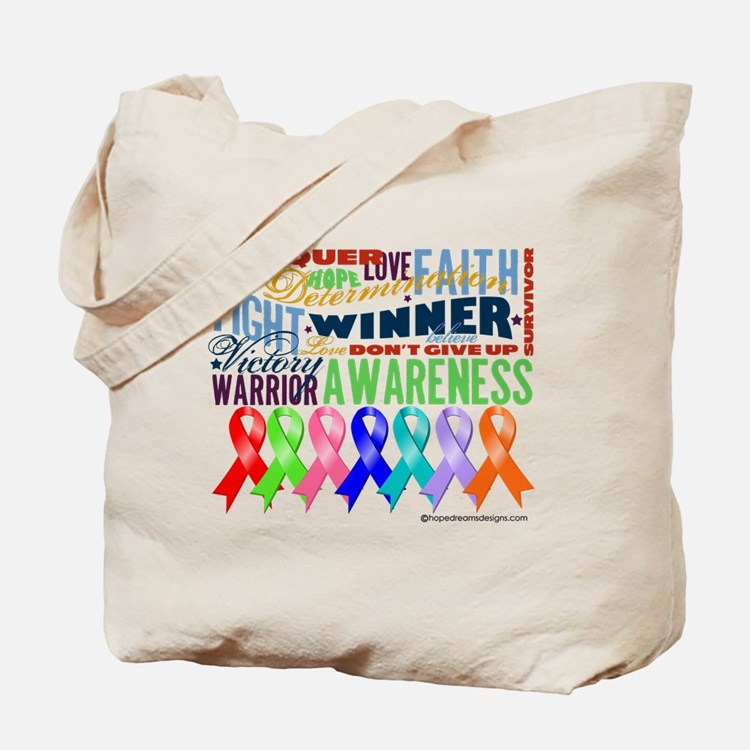 Ribbons For a Cause Tote Bag