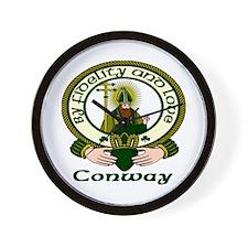Conway Clan Motto Wall Clock