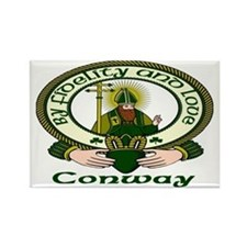 Conway Clan Motto Rectangle Magnet (10 pack)
