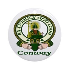 Conway Clan Motto Ornament (Round)