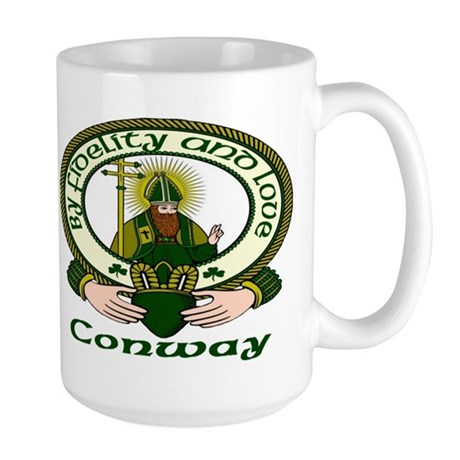 Conway Clan Motto Large Mug
