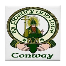 Conway Clan Motto Tile Coaster