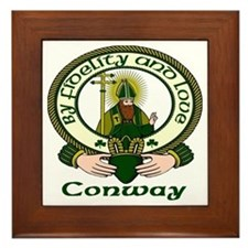 Conway Clan Motto Framed Tile