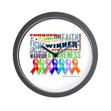 Ribbons For a Cause Wall Clock