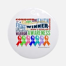 Ribbons For a Cause Ornament (Round)