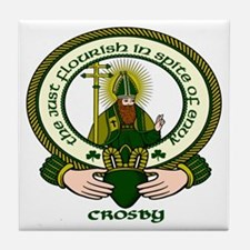 Crosby Clan Motto Tile Coaster