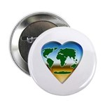 Heart-shaped Earth Button