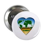 "Heart-shaped Earth 2.25"" Button (10 pack)"