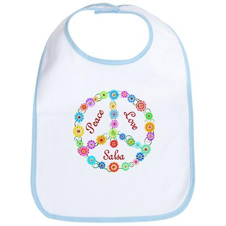 Salsa Peace Sign Bib