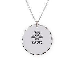 Dye Black Print Necklace