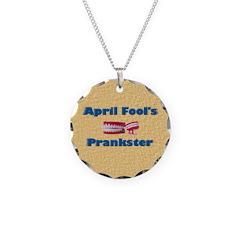 April Fool's Prankster Necklace Circle Charm