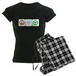 Peace, Love, Recycling Women's Dark Pajamas