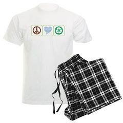 Peace, Love, Recycling Pajamas