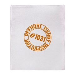 Candy Inspector Throw Blanket