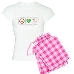 Peace Love Candy Canes Women's Light Pajamas