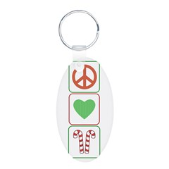 Peace Love Candy Canes Keychains