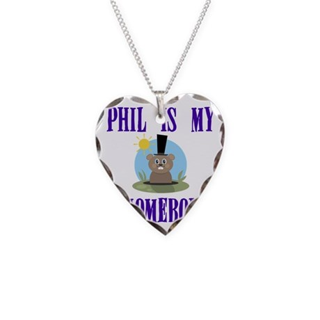 Homeboy Groundhog Day Necklace Heart Charm