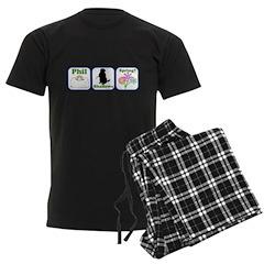 Phil, Shadows, Spring Pajamas