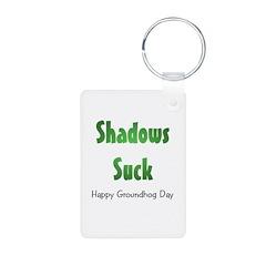 Shadows Suck Aluminum Photo Keychain