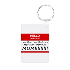 Hello My Name is Mom, Mom, Mo Keychains