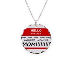Hello My Name is Mom, Mom, Mo Necklace