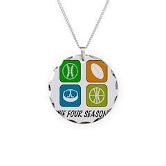 Four Seasons Necklace Circle Charm