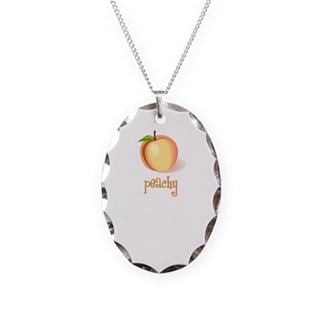 peachy Necklace Oval Charm