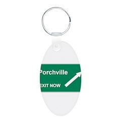 Porchville Exit Keychains