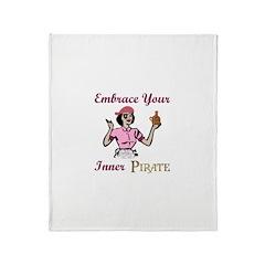 Inner Pirate Throw Blanket