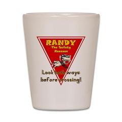 Randy Raccoon Shot Glass