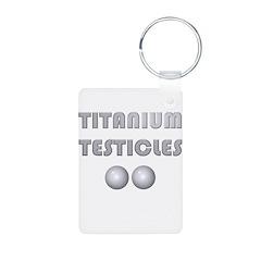 Titanium Testicles Keychains