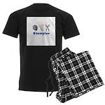 Rock Paper Scissor Champ Men's Dark Pajamas