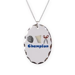 Rock Paper Scissor Champ Necklace