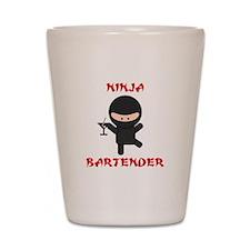 Ninja Bartender with Martini Shot Glass