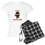 Ninja Bartender with Martini Women's Light Pajamas