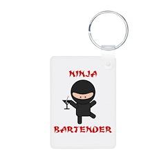 Ninja Bartender with Martini Keychains