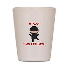 Ninja Bartender Plain Shot Glass