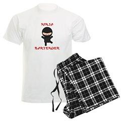 Ninja Bartender Plain Pajamas