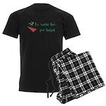 Smarter Than Your Therapist Men's Dark Pajamas