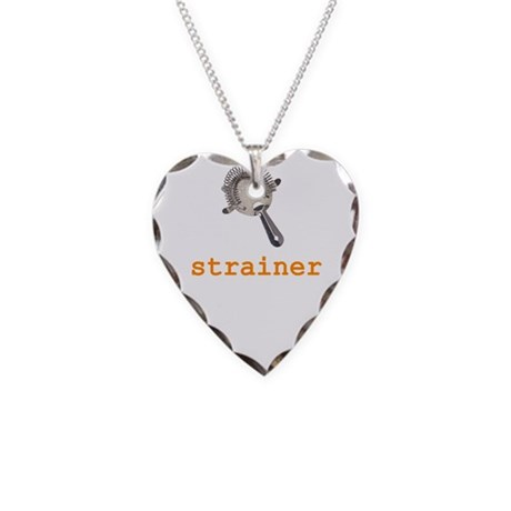 Strainer Necklace Heart Charm