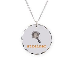 Strainer Necklace Circle Charm