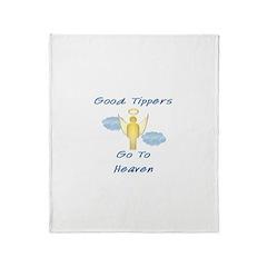 Good Tipper Angel Throw Blanket