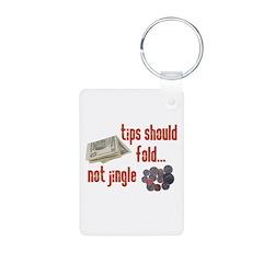 Tips should fold Aluminum Photo Keychain