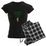 Thank You Women's Dark Pajamas